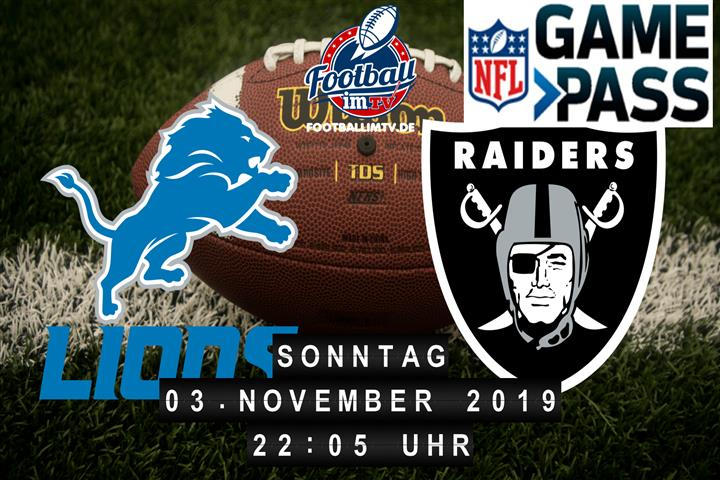 Detroit Lions @ Oakland Raiders