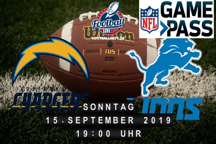 Los Angeles Chargers @ Detroit Lions