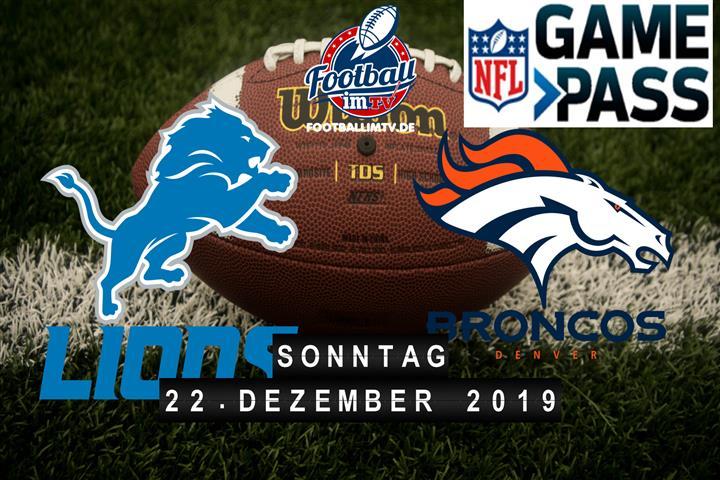 Detroit Lions @ Denver Broncos