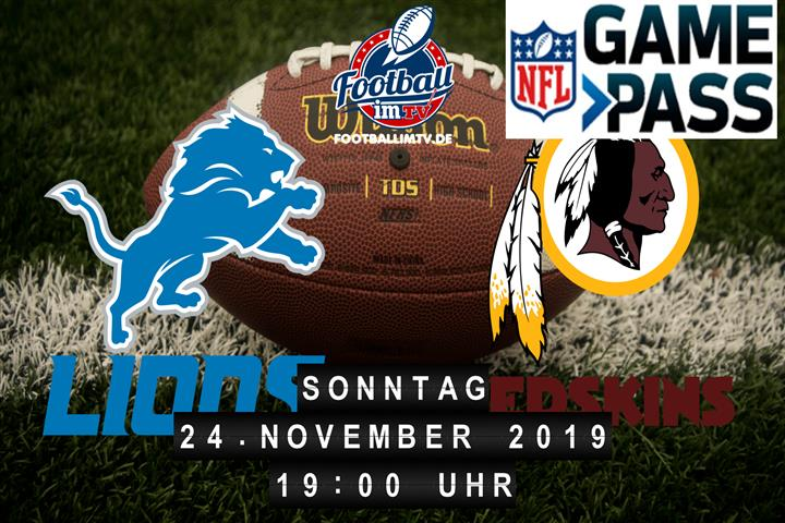 Detroit Lions @ Washington Redskins