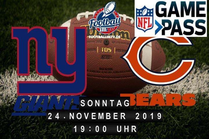 New York Giants @ Chicago Bears