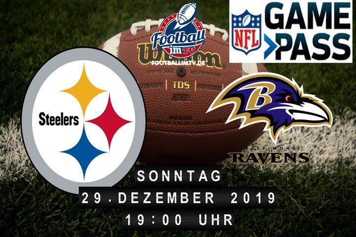 Pittsburgh Steelers @ Baltimore Ravens